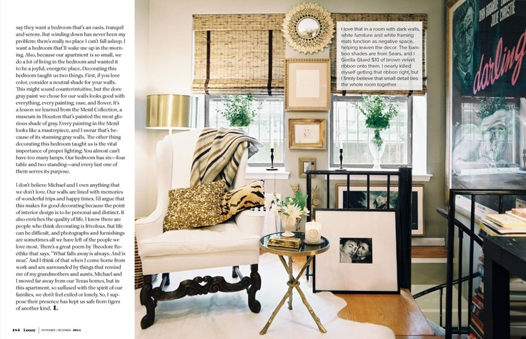 Painted Bamboo Shades In Our Living Room - Emily A. Clark