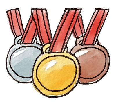 金・銀・銅メダルのイラスト