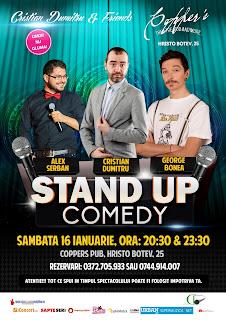Stand-Up Comedy Sambata 16 Ianuarie Bucuresti