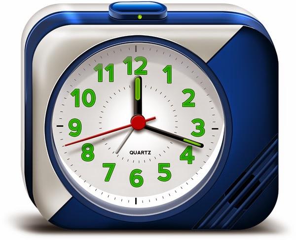 Electronic Alarm Clock Icons PSD
