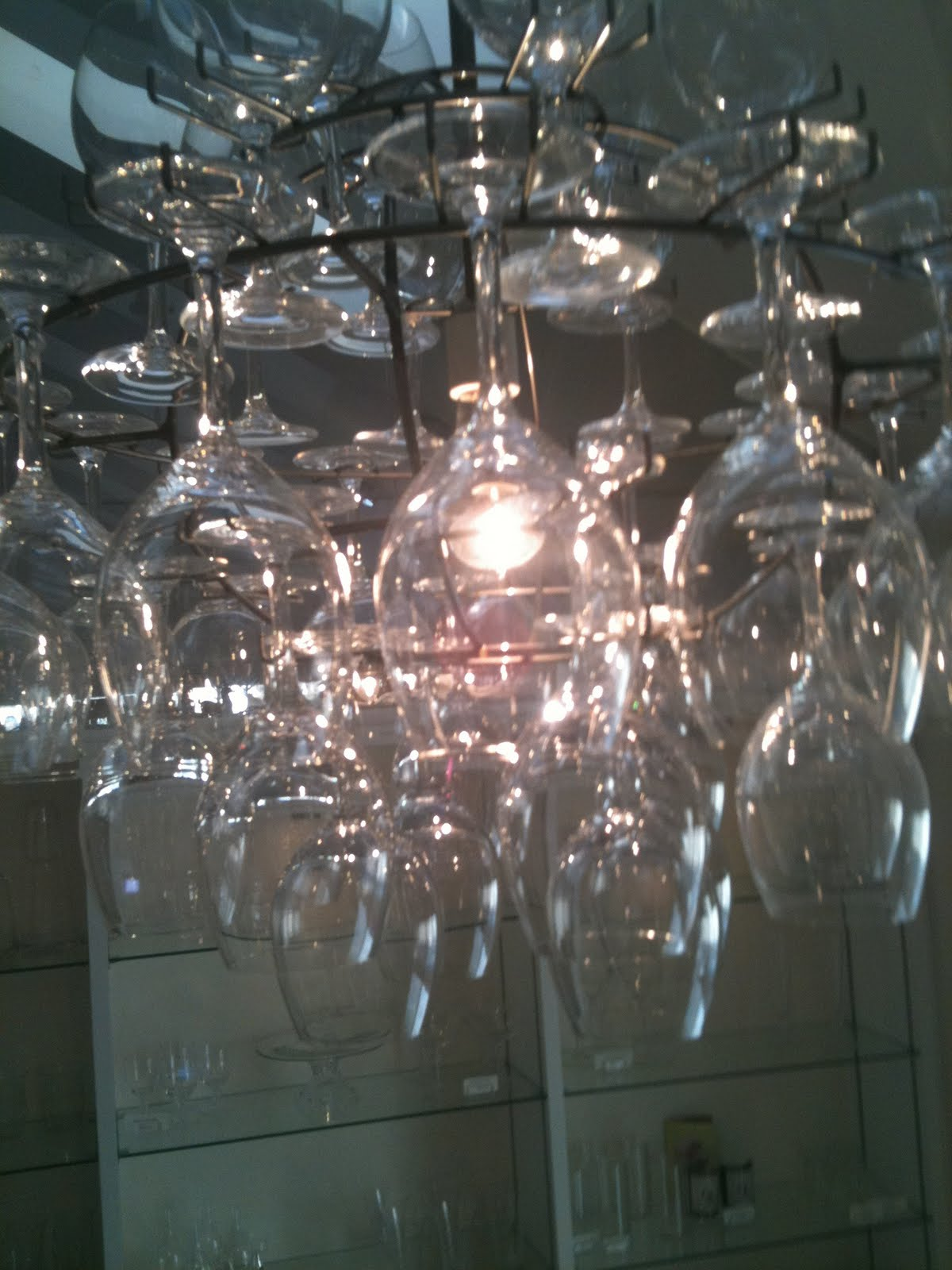 Sheer Serendipity Wine glass chandelier