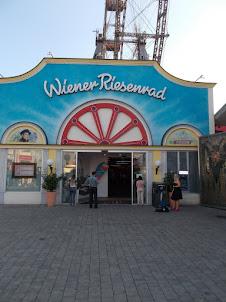 """""""Wiener Riesenrad(Vienna Giantwheel)"""" entrance in Prater amusement park."""