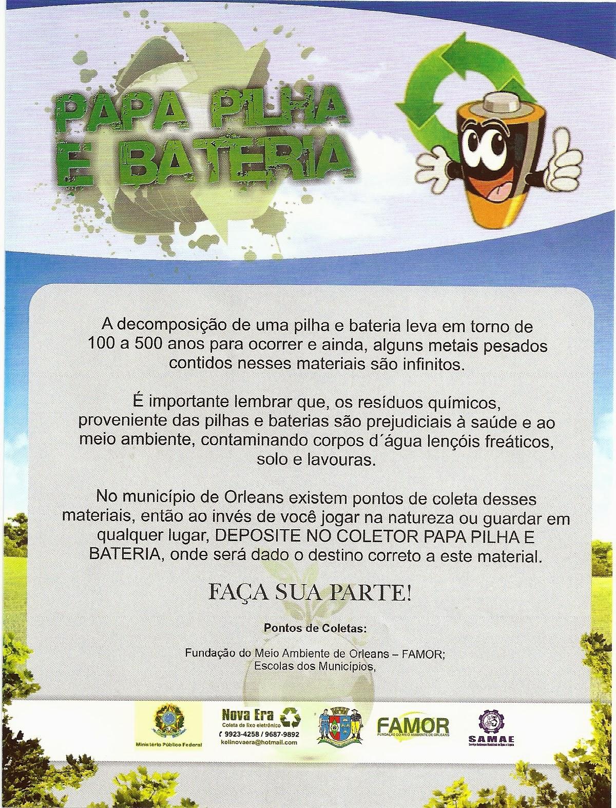 MARTHA CLÁUDIO MACHADO: Coleta de Óleo de Cozinha Pilhas e Baterias #A3A328 1200 1574