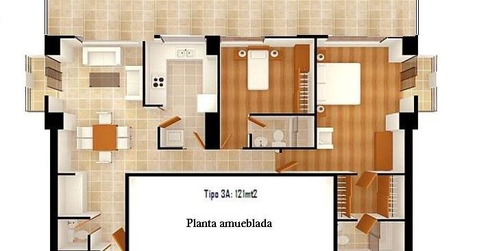 Mil ideas para la casa y el jardin planta amueblada con for Construccion de oficinas modulares