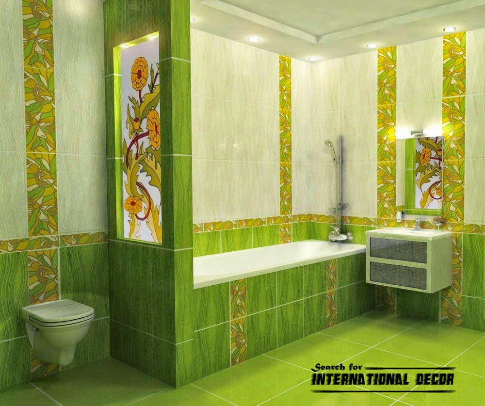 Top 15 chinese ceramic tile in the interior for Bathroom ceramic tile design ideas