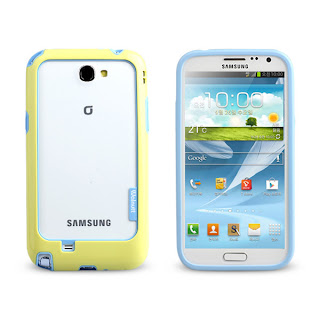 [Yellow & Blue] Walnutt Bumper Solid Slim Case Anti Damage for Galaxy Note 2 II