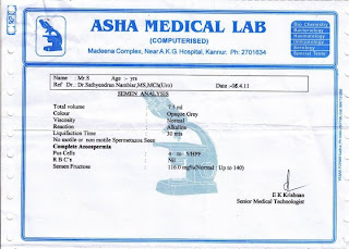 lab report, treatment before