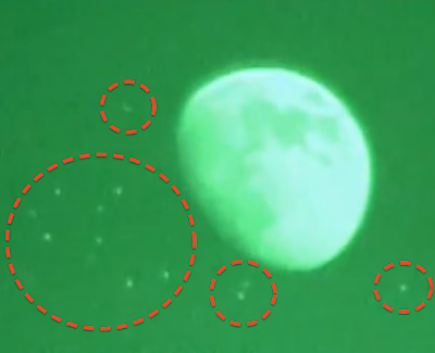 Fleet of Glowing UFO's Caught Near The Moon, UFO Sightings