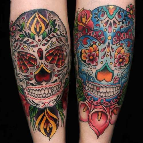 Skull tattoos is very interesting tattoo design ideas this tattoo very good