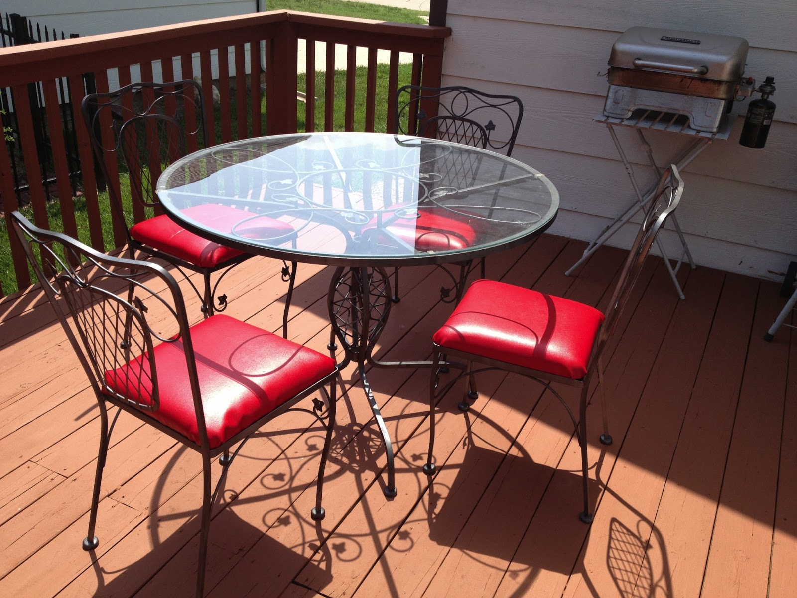 Great Reupholster And Repaint Patio Furniture With Rustoleum Universal Metallic  Paint
