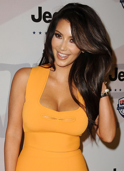 Hollywood celebrity with Sexiest Breast Kim Kardashian
