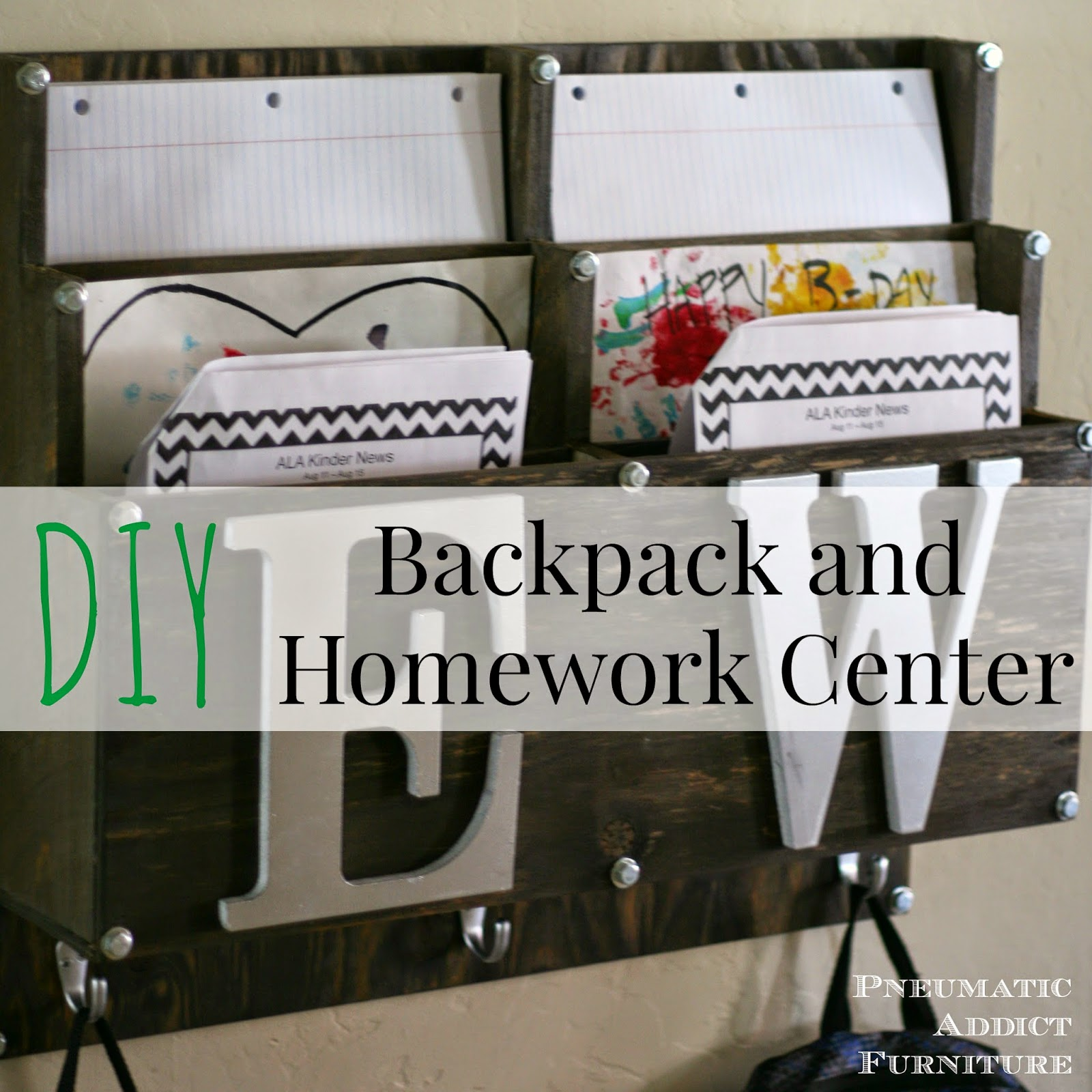 DIY Backpack and Homework Center