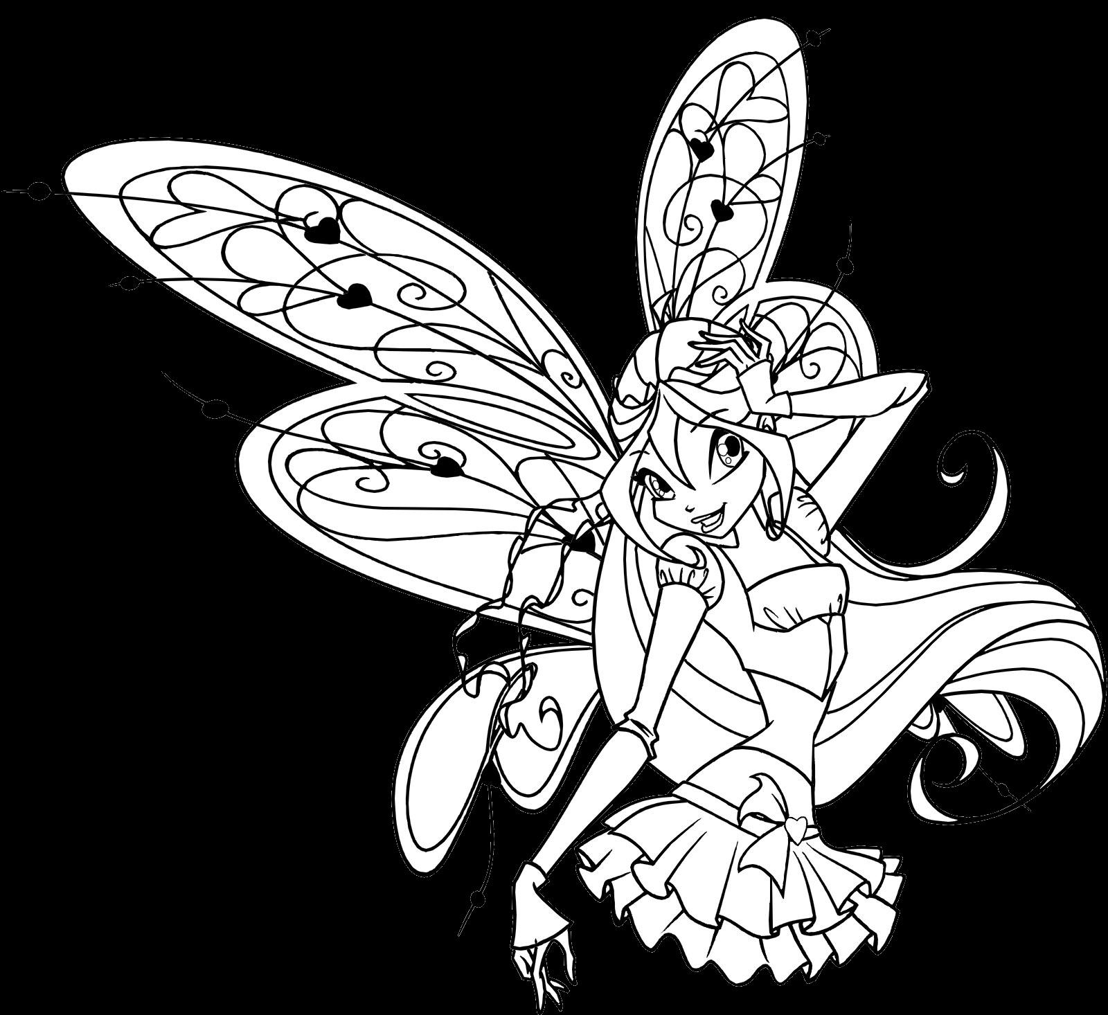 Winx Club Sirenix: Colorear: Colorea a Bloom Believix con ...