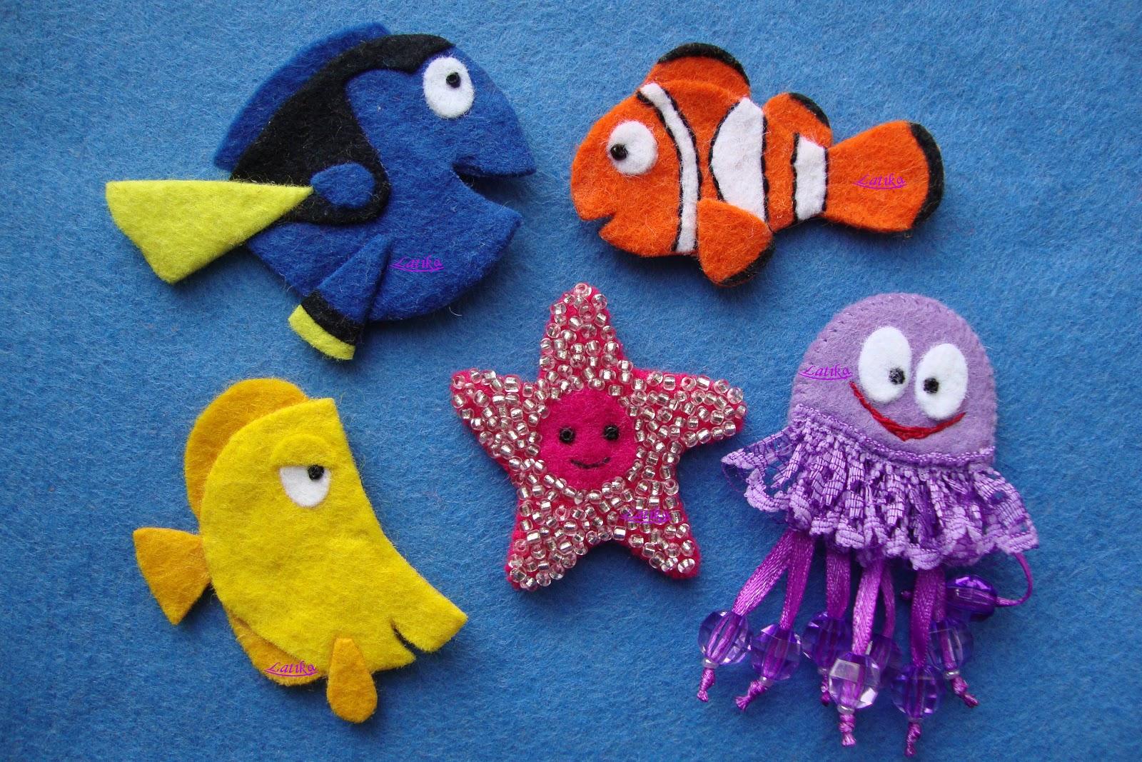 Рыбки своими руками поделки из фетра