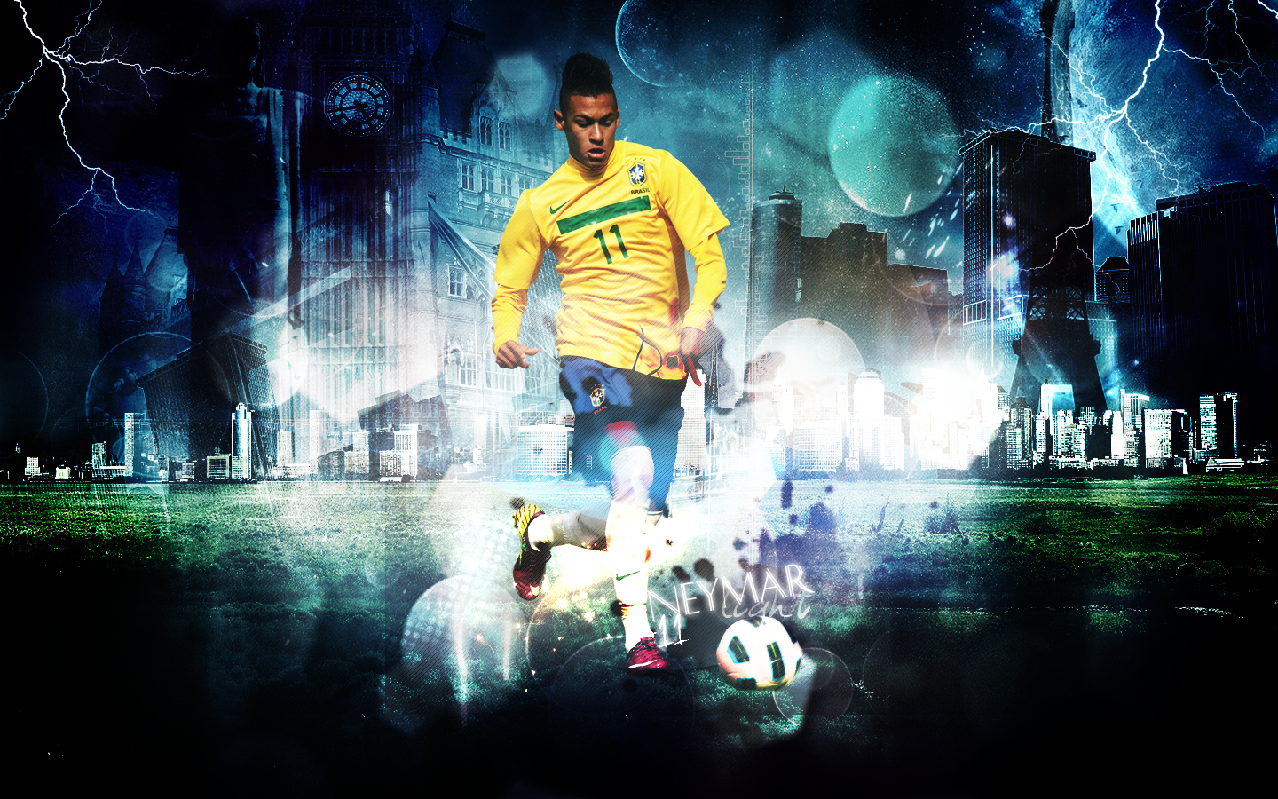 Football Stars: Neymar New 2012 Wallpapers