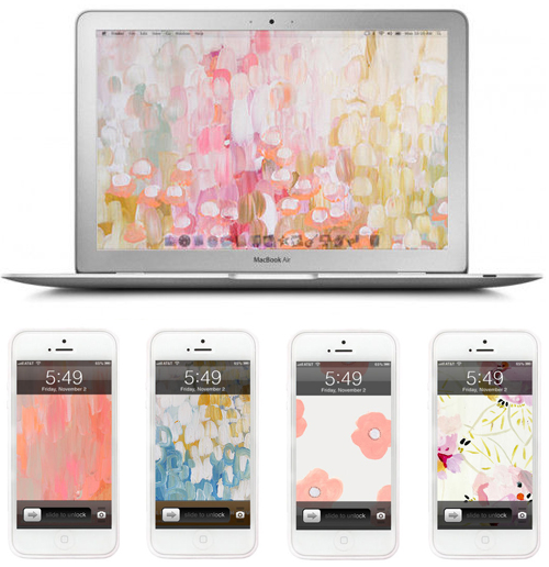 Pretty tech wallpapers for spring