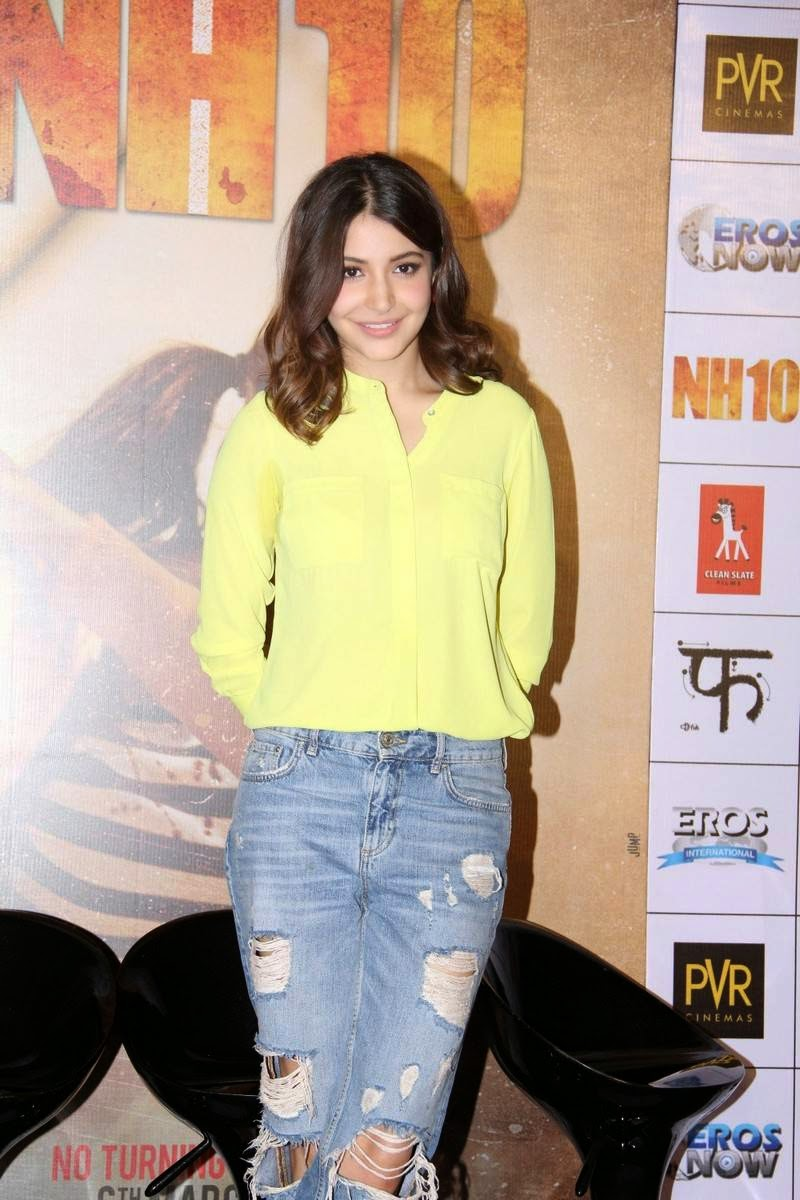 Actress Anushka Sharma Latest Cute Hot Spicy Photos Gallery At NH10 Hindi Movie Trailer Launch