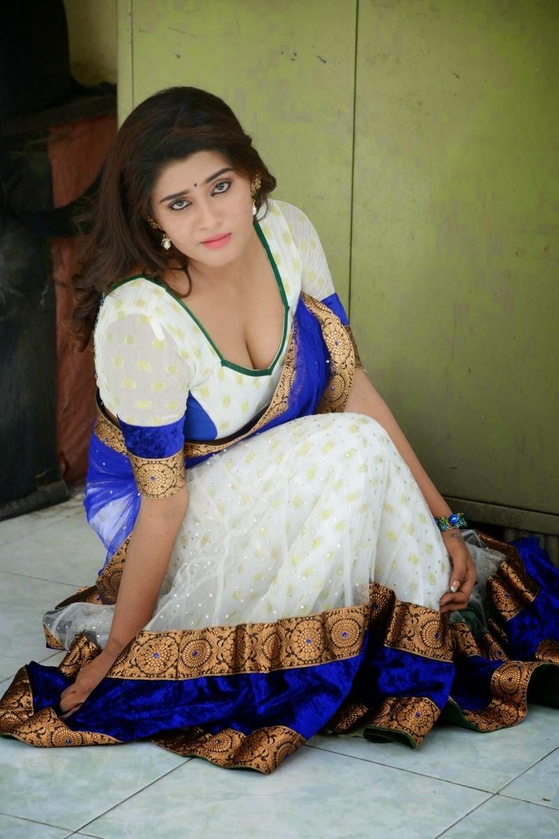 Harini Hot Photo Shoot In Half Saree