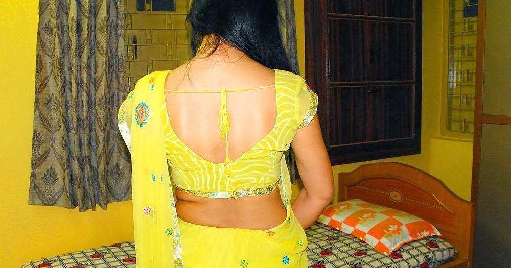 back blouse Sexy aunty Desi