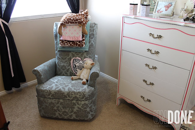 {The Undone Blog} recover a lazy boy recliner for the nursery