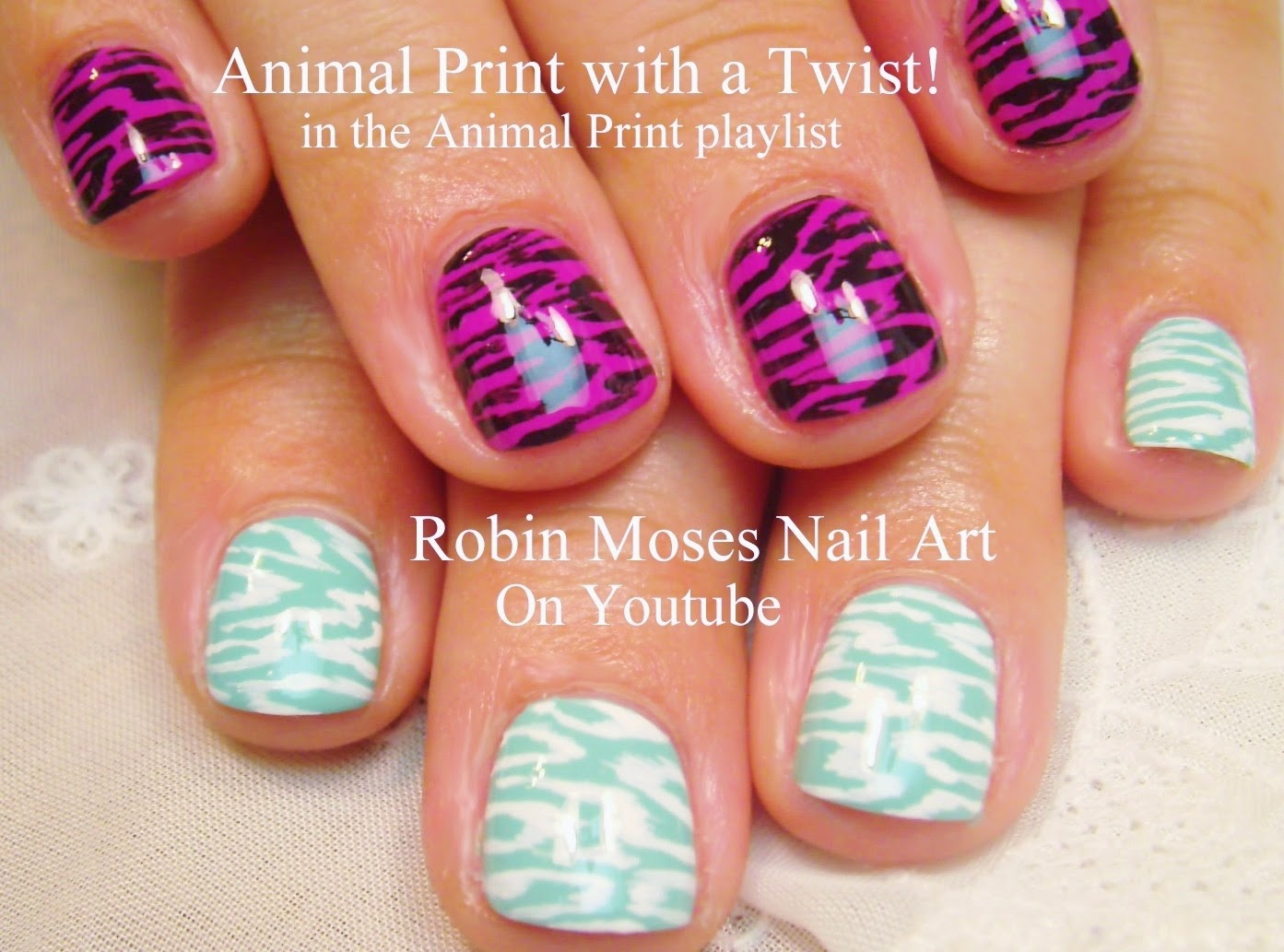 Nail Art By Robin Moses Animal Print Nails Diy Animal Print