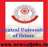 central+university+of+orissa+recruitment