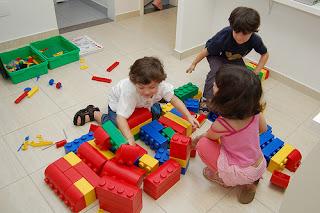crianças organizadas