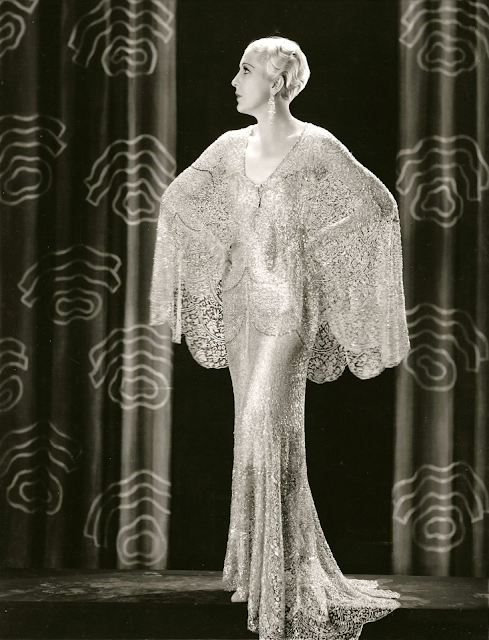 Natalie Moorhead, 1930 #vintage #lace #dress #fashion