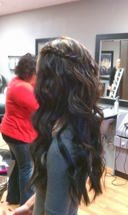 someone wants to try this look. You should too! Dark hair with braid... I really want to try this!