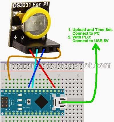 Wiring of DS3231 Module to Arduino