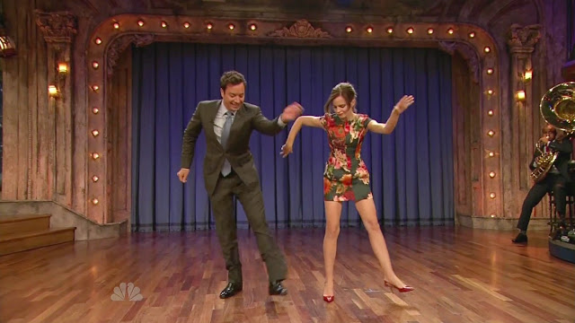 Emma Watson Leggy Late Night Jimmy Fallon