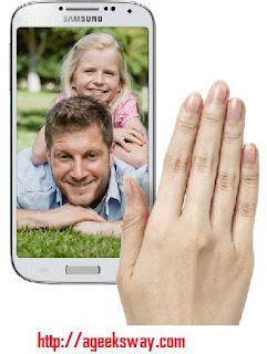 Samsung Galaxy S4 Features : Air gasture