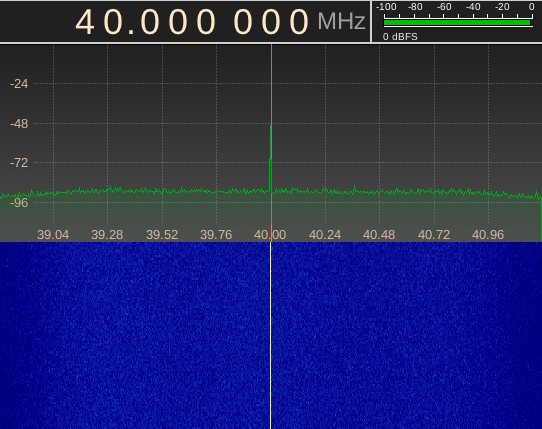 AD9850 gerando 40Mhz