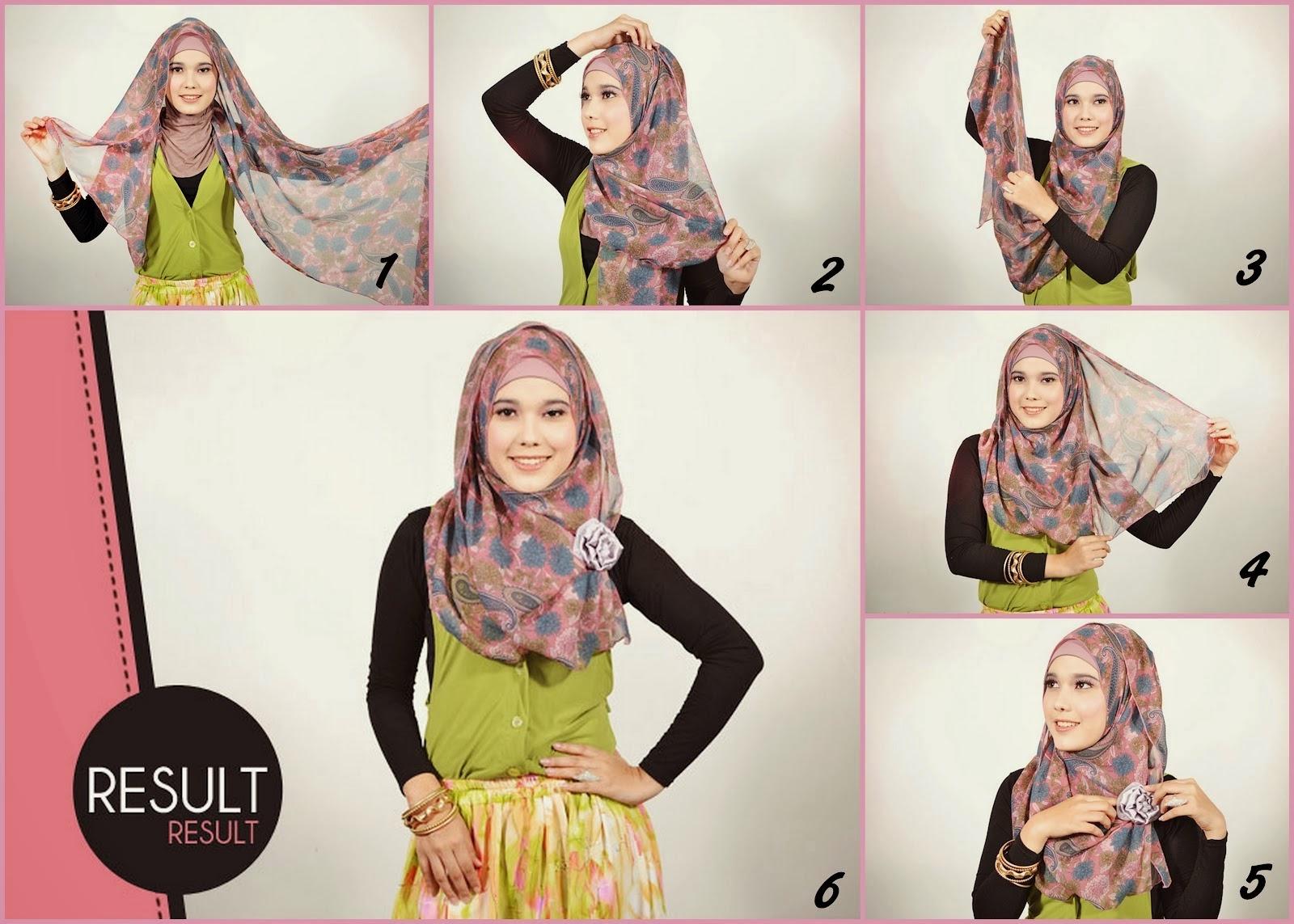 Sepatu 2016 Cara Memakai Jilbab Kreasi Untuk Wajah Bulat Images