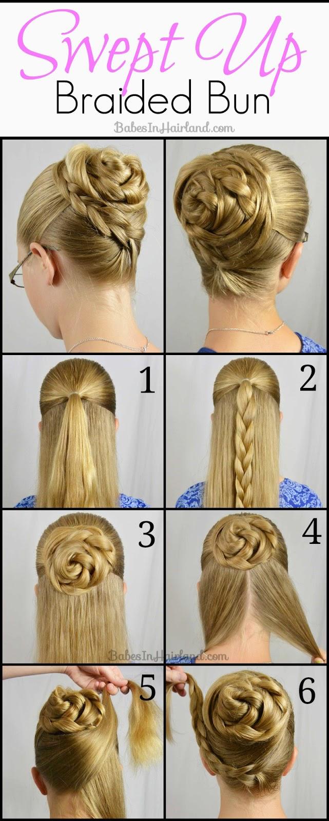 прически на средние волосы поэтапно с картинками