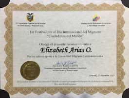 Reconocimiento de El Consulado General del Ecuador en New Jersey y Pennsylvania, 12-17-2017