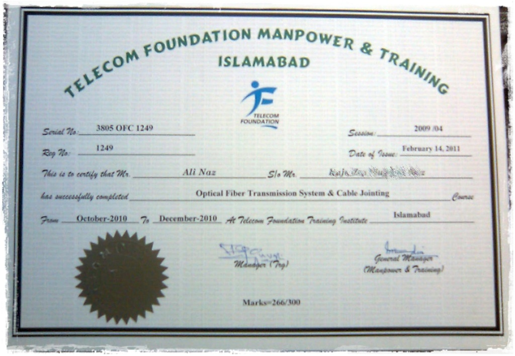 Telecom Foundation Optical Fiber Course Paktron Pakistani