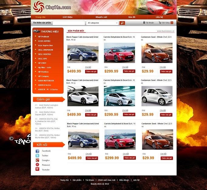 thiết kế web bán hàng xe đạp điện đẹp
