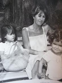 Con mis hijas cuando eran pequeñas.