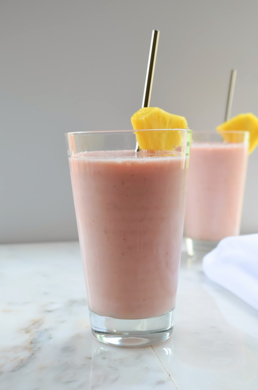Pineapple Strawberry Raspberry Smoothies