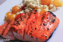 Maple Basted Grilled Salmon