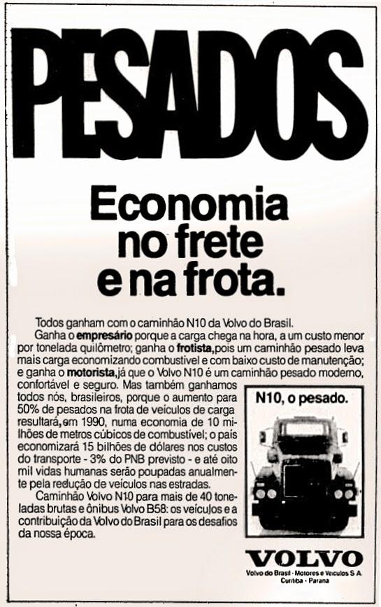Volvo. propaganda anos 70. propaganda carros anos 70. reclame anos 70. Oswaldo Hernandez.