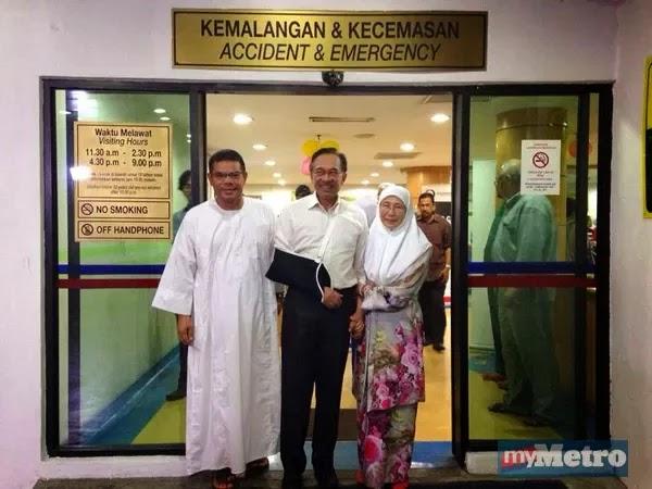 Anwar Ibrahim Cedera Kemalangan