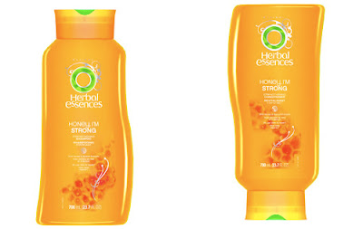 Herbal Essences, Herbal Essences shampoo, Herbal Essences conditioner, Herbal Essences Honey I'm Strong, Herbal Essences Honey I'm Strong Strengthening Shampoo, Herbal Essences Honey I'm Strong Strengthening Conditioner, shampoo, conditioner, hair