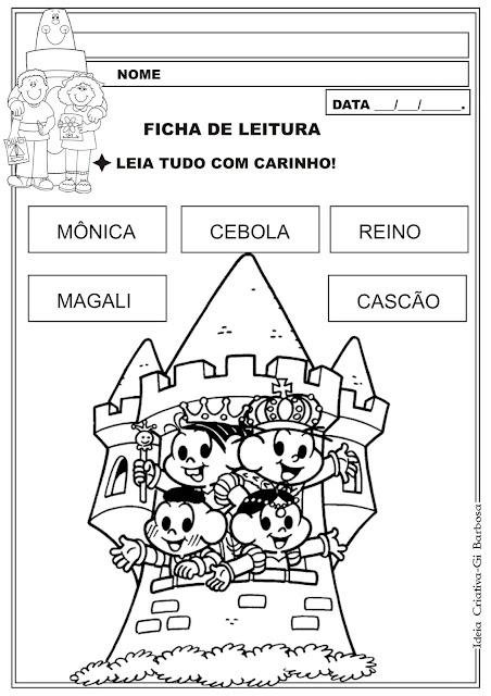 Ficha de Leitura Turma da Mônica