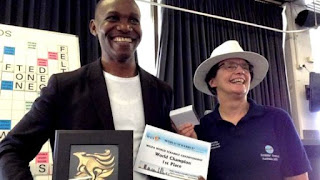 Wellington Jighere - first African to win World Scrabble Championship
