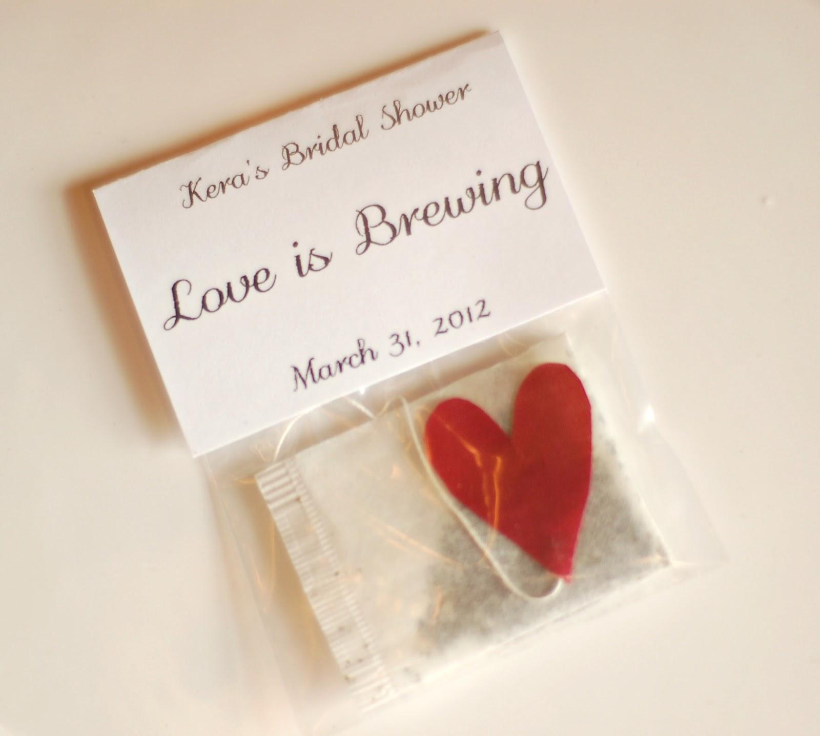 love is brewing tea bag favor