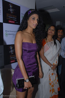 Vasuki Sunkavalli Spicy Miss Universe India 2010 in purple gown at  HIFW Website Launch Party