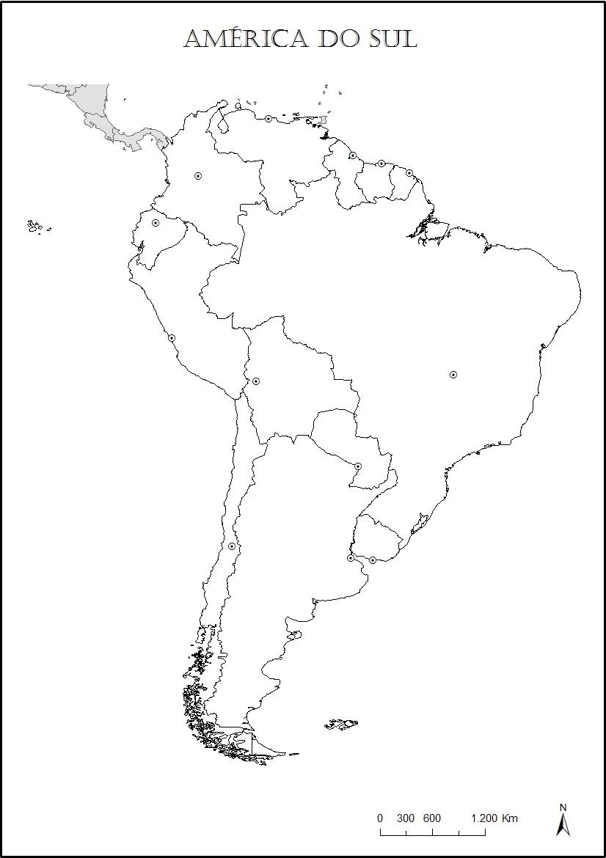 Mapas Da America Do Sul Para Colorir