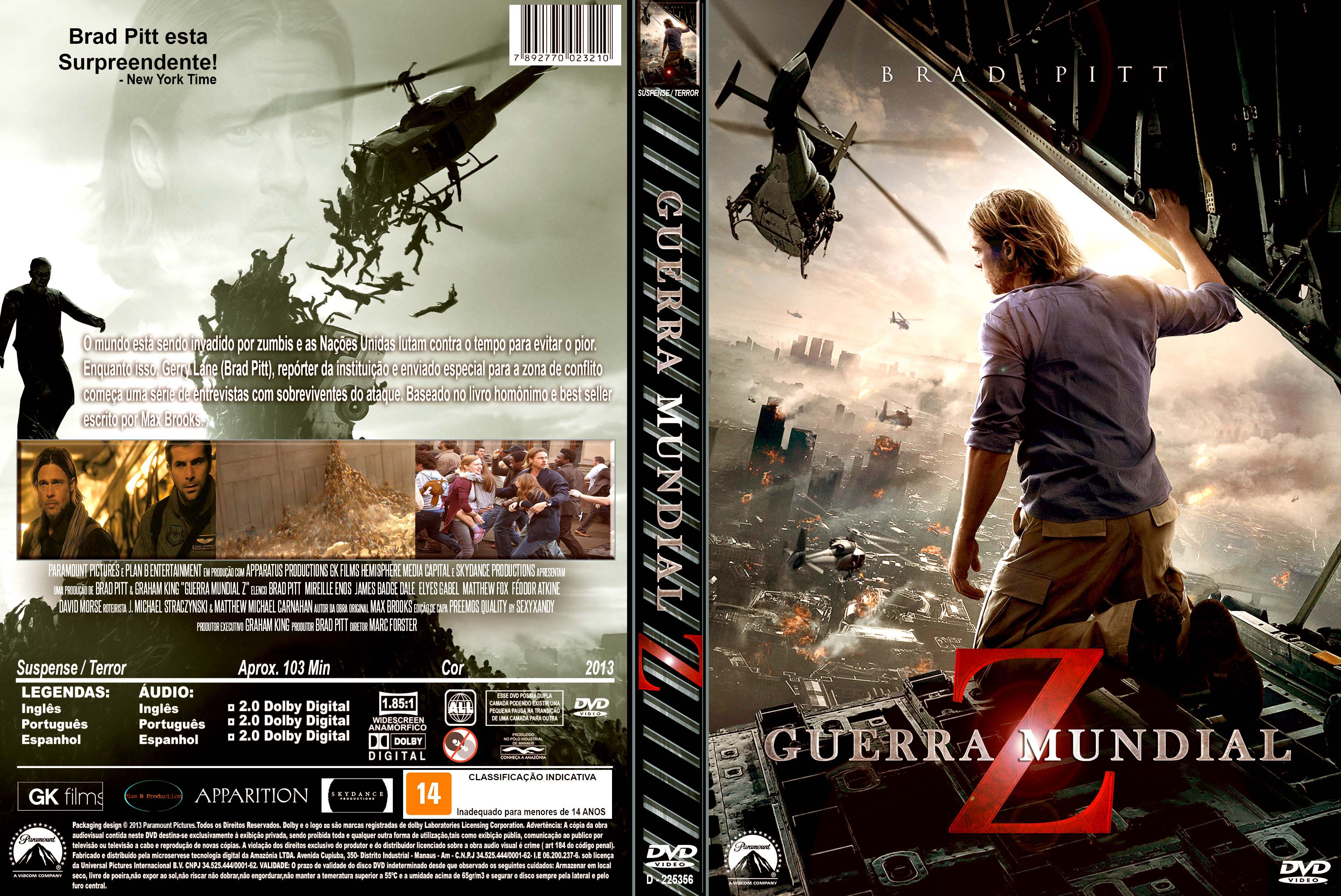 Capa do Dvd Guerra Mundial z Capa Dvd Guerra Mundial z